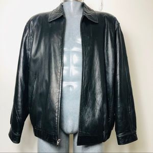 Other - Men's black leather jacket